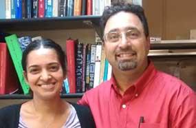 Prof Khodakhah and Ambika Tewari