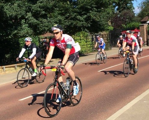 AFAT cyclists in Richmond Park