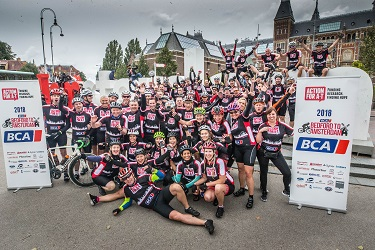 BCA cyclists in Amsterdam